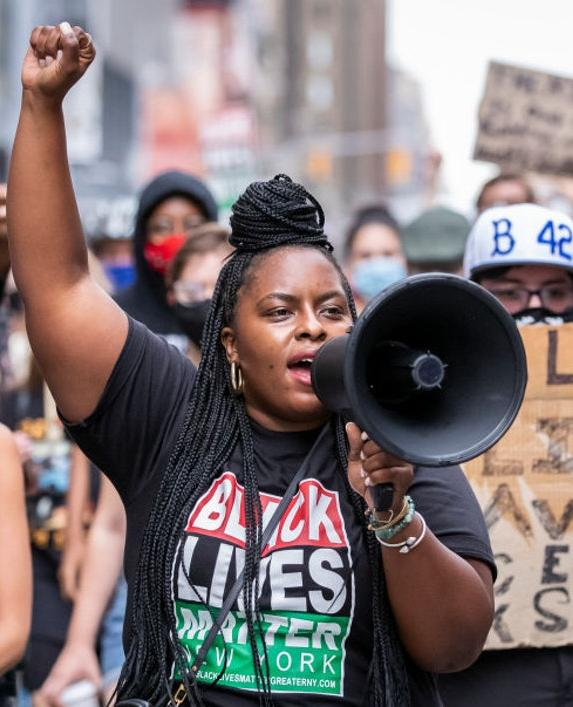 Chivona Newsome, co-founder of BLM of Greater NY